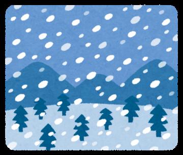 雪の朝の画像